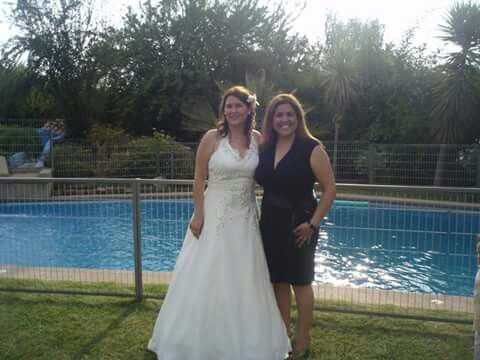 Junto a mi testigo de matrimonio...mi querida hermana.