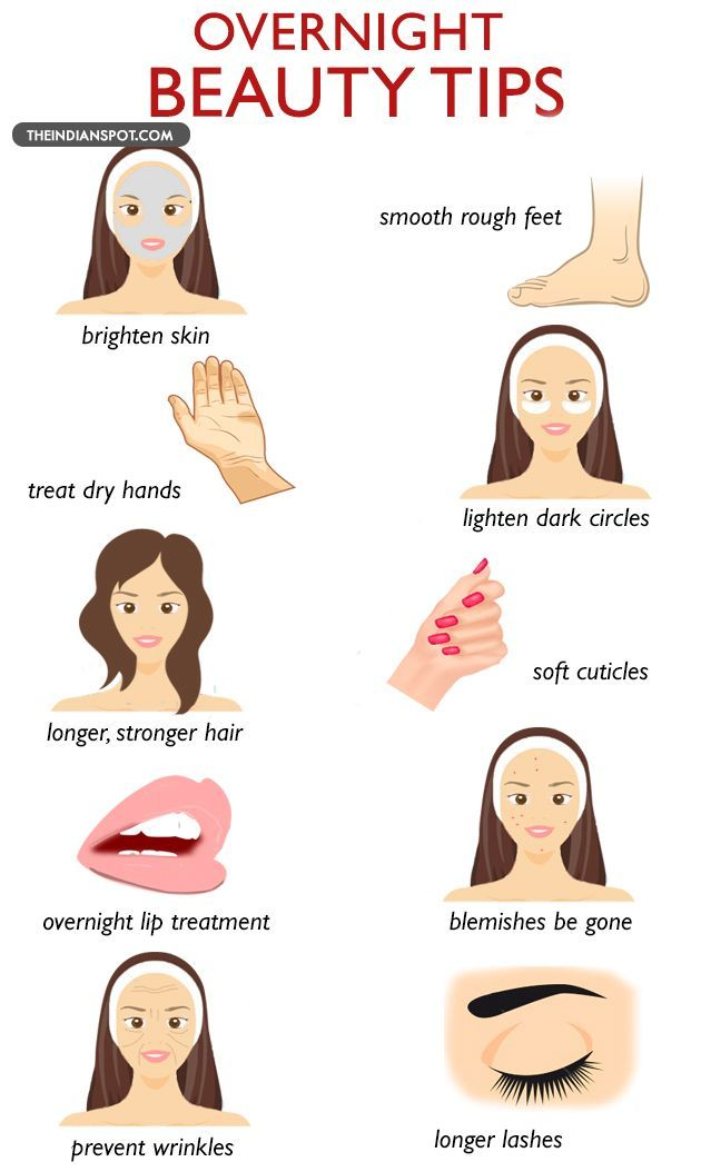 Fix your beauty problems overnight to wake up to a whole new glow. Treat your skin and hair overnight with natural treatments with the following beauty tips ...