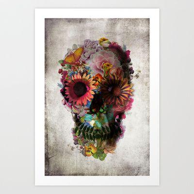 SKULL 2 Art Print by Ali GULEC - $15.00