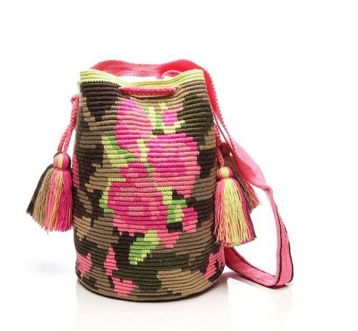 Wayuu Mochila bag camo rose