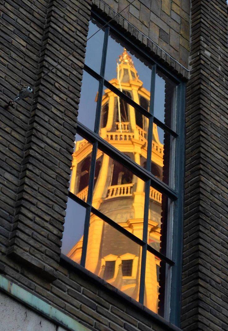 Reflectie Der Aa-kerk, Groningen
