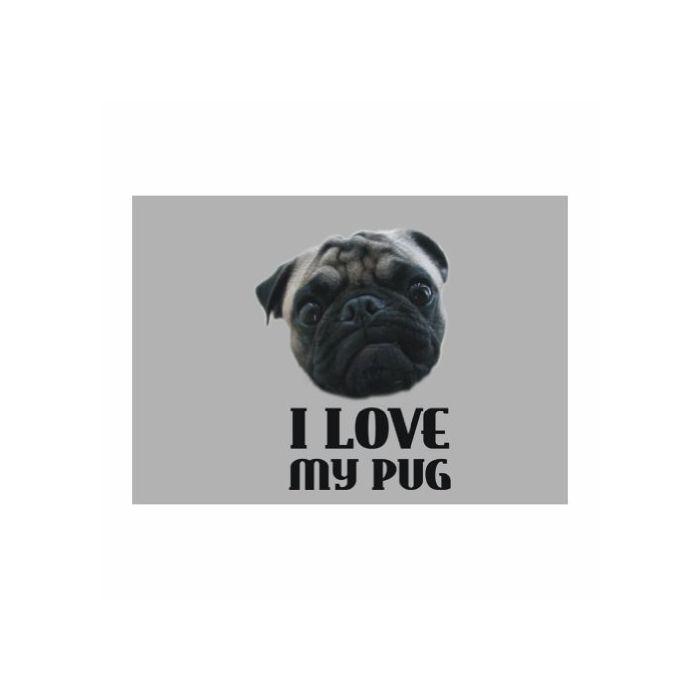 【楽天市場】ウォールステッカー Teeburon I love my Pug Dogs Pack of 4 デカール 【エコモニカ】:エコモニカ