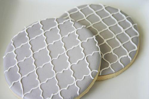 Mosaic tile cookie