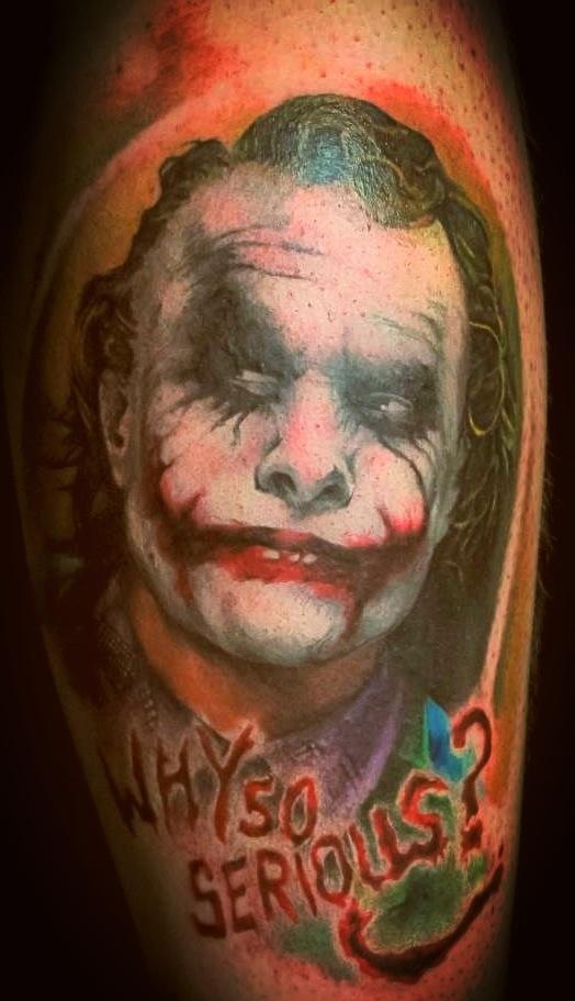 heath ledger joker tattoo superheroes pinterest