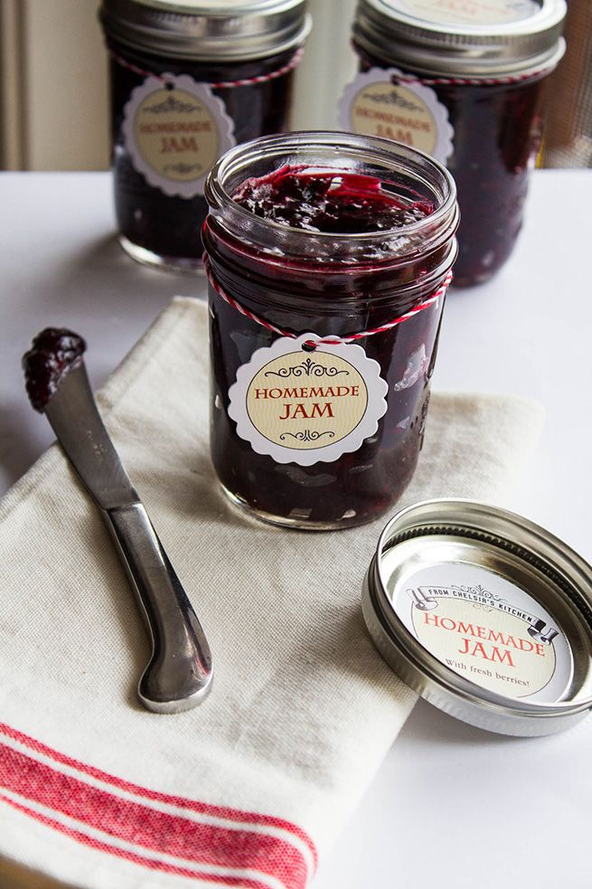 Homemade berry Freezer Jam  or any berry you choose.
