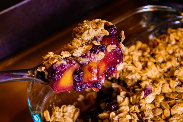Blueberry Nectarine Crumble.  Filled with fruit, almonds and oats--very heart healthy!
