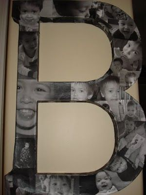 Mod Podge Photo Letter