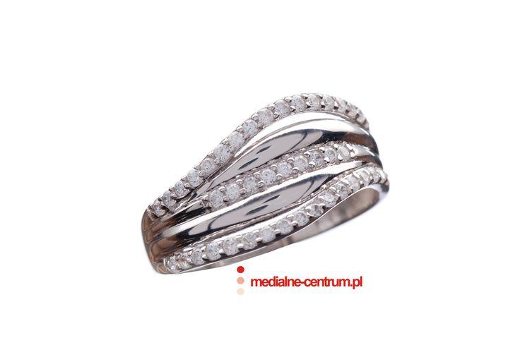 pierścionek z brylantami, zaręczynowy, białe złoto, wedding engagement ring