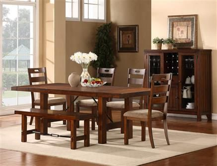 homelegance clayton dining table set rustic oak classic farmhouse style goes industrial in this weston home clayton dining table set rustic oak