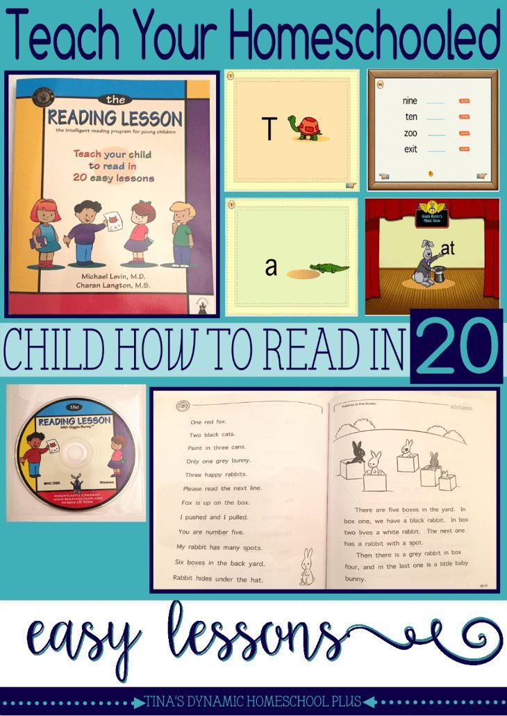 Teach Your Homeschooled Child How to Read in 20 Easy ...