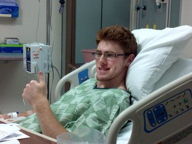 Brown University football player Matt Shannon offers a most precious gift - a bone-marrow donation