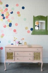 confetti colors. Love this for when you can't paint the walls!