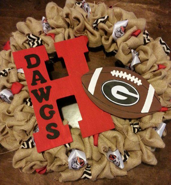 Georgia Bulldog Burlap Wreath customized by SophiasSatchel on Etsy, $110.00