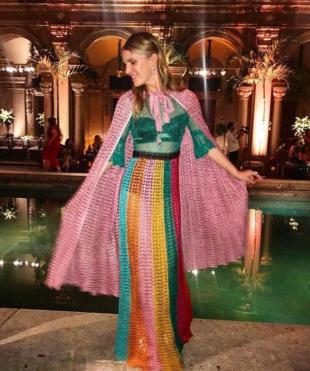 #Aboutlastnight: linda a designer de joias @venyxworld celebrou o casamento da britânica @_amyterry_ e do mezzo brasileiro mezzo grego @bmavroleon no Parque Lage no Rio na última sexta-feira (26). Alegria diversão e tropicalismos a bordo de um vestido coloridíssimo @gucci que ela mostra no clique da amiga e stylist @bat_gio. Para saber mais sobre o casório acesse vogue.globo.com  via VOGUE BRASIL MAGAZINE OFFICIAL INSTAGRAM - Fashion Campaigns  Haute Couture  Advertising  Editorial…