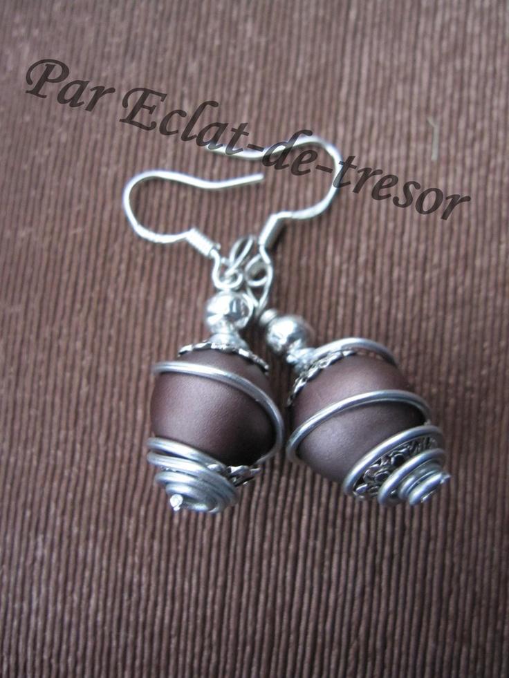 Boucles d'oreilles Argent 925 Spirale Magique
