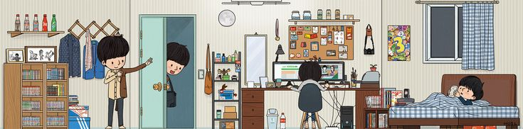 자화상_내 방 - 디지털 아트 · 일러스트레이션, 디지털 아트, 일러스트레이션, 그래픽 디자인, 일러스트레이션