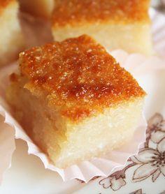 Cassava Cake - Filipino recipe. Check picture of Dark Chocolate Truffle Mochi & recipe on the right side.
