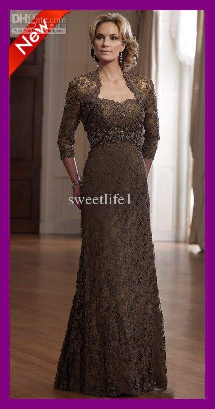 Wholesale Custom-made 2011 High-end Lace Designer Sheath Strapless Long Sleeve NEW Mother of the Bride Dresses, Free shipping, $90.72-100.8/Piece | DHgate