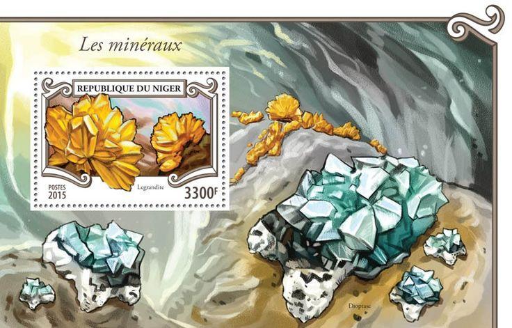 Post stamp Niger NIG 15306 bMinerals (Legrandite)