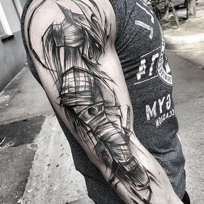 ▷ 1001 coole und effektvolle Samurai Tattoo Ideen