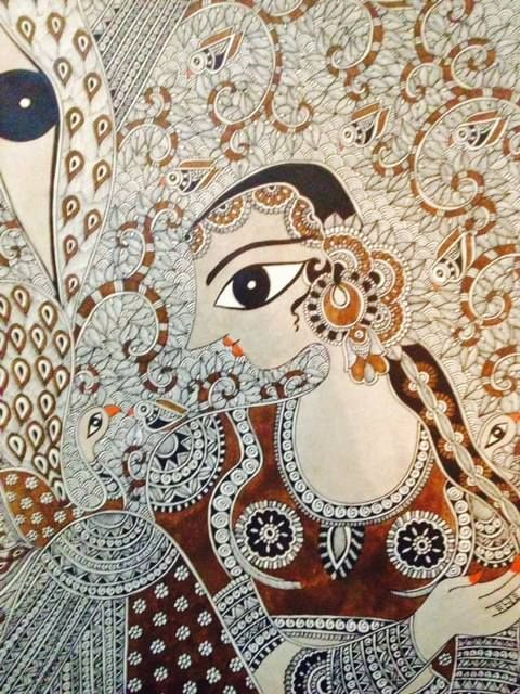 Bharti's new painting.. #madhubani, #walldecor, #bhartidayal, #artwork, pepupstreet.com, #india