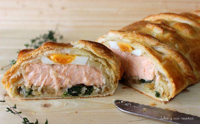 JULIA Y SUS RECETAS: Kulibiak o pastel ruso de salmón