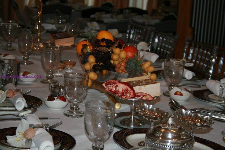 rosh hashanah decorations table