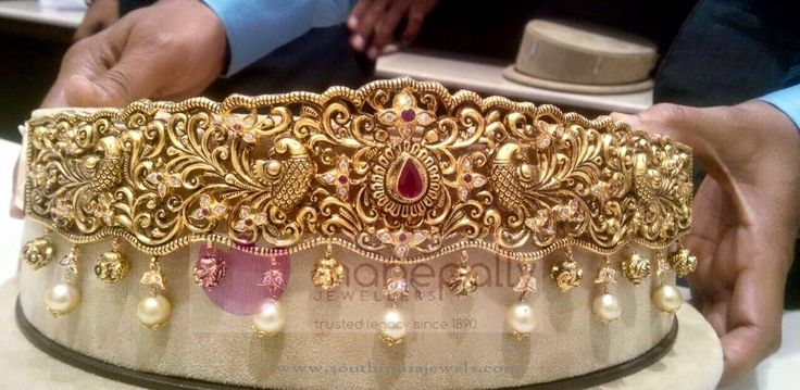 Gold Vadanam Designs from Manepally Jewellery