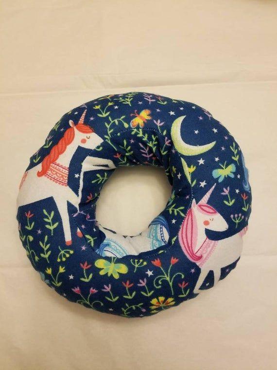 Piercing Pillow Ear Pillow Donut Pillow Ear Piercing Pillow Unicorns Donut Pillow Pillows Soft Flannel