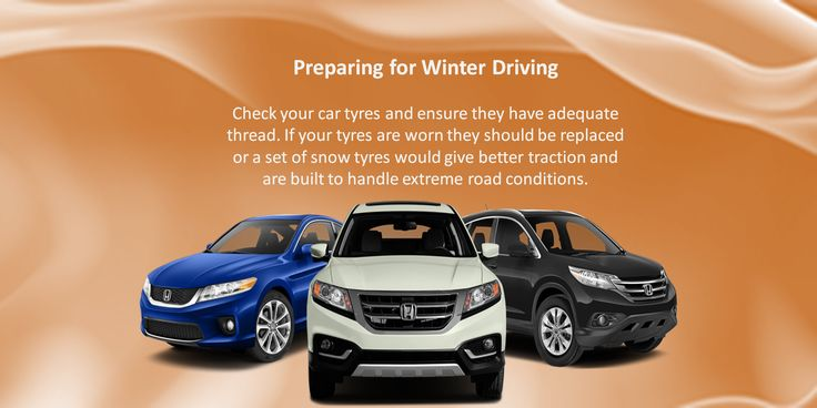 Check the tire tread depth and tire pressure. If snow and ice are a problem in your area, consider special tires designed to grip slick roads. During winter, tire pressure should be checked weekly. URL:http://www.nokiantyres.com/winter-tyres/nokian-all-weather-/ #all weather tyres