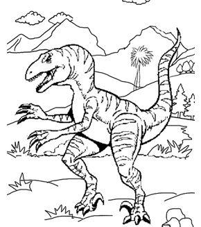 velociraptor colouring page - Velociraptor Coloring Page