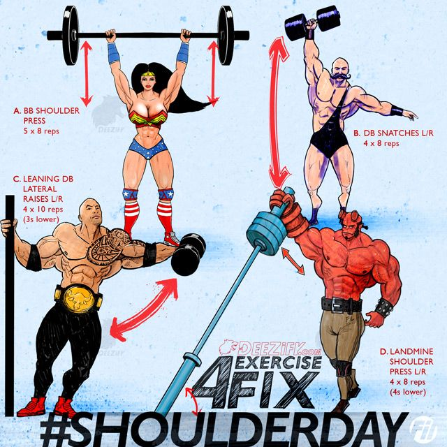 Shoulder Workout Program including shoulder press, lateral raises