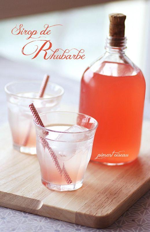 Sirop de rhubarbe - Rhubarb syrup