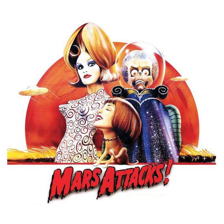 Mars Attacks T-shirt retro sci fiction Martians horror b-movie Tim Burton tee  #HANESANVIL #TShirt