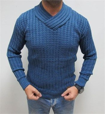 Yeni sezon erkek fit kesim açık mavi kazak modellerini en ucuz fiyatlarıyla kapıda ödeme ve taksit ile Outlet Çarşım'dan satın al.