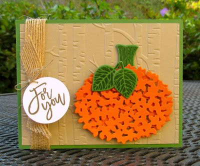Krystal's Cards: Stampin' Up! Thoughtful Branches Pumpkin #stampinup #krystals_cards #thoughtfulbranches