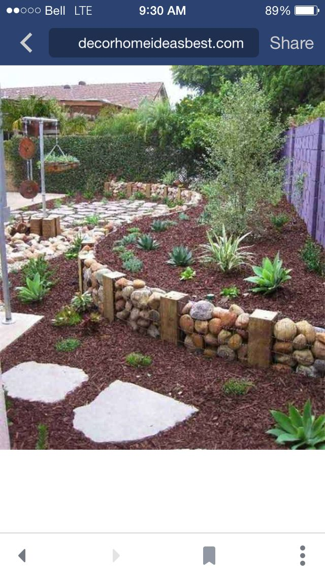 diy homemade gabion wall ie rocks encased in wire baskets and used as a retaining wall creates a dramatic feature in a garden no directions on link - Gabion Retaining Wall Design