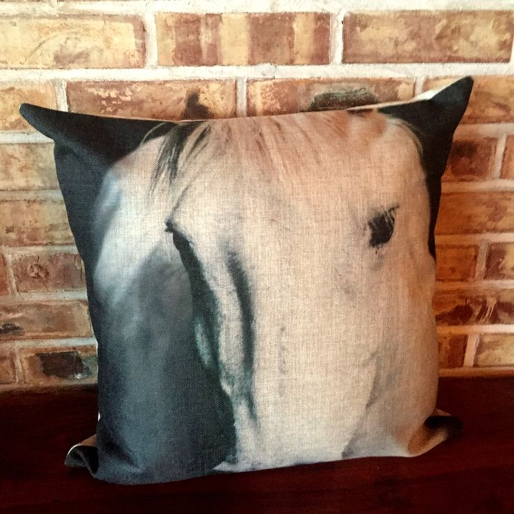 Rustic Modern Annie Horse Eye Pillow Cover by HorseEyeDesigns on Etsy