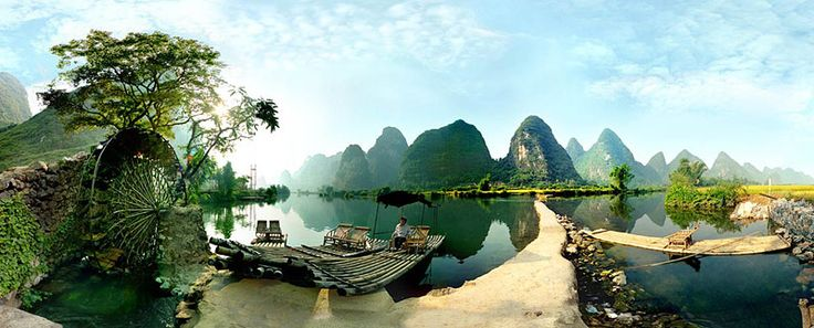 Imagenes-de-paisajes-Chinos-barcos