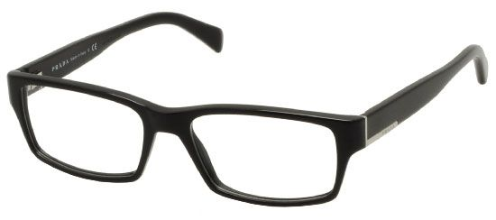 Prada's Prada PR06OV 1AB1O1 come with a sturdy Acetate eyeglass frame. The SmartBuyGlasses prescription lenses option is a great choice so your eyeglasses arrive on your doorstep ready to wear. Most of our lenses are coated with a special advanced coating which renders them anti-glare and scratch resistant. This product features a Shiny Black frame and standard lenses. To top it off you also have a 2 year warranty.