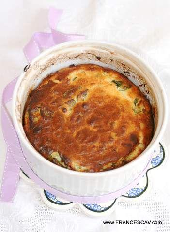 souffle-spinaci e aglio fresco