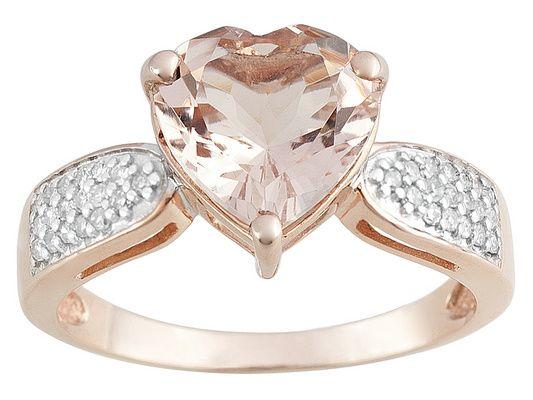1.80ct Heart Shape Cor-de-rosa Morganite(Tm) With .13ctw White Diamond