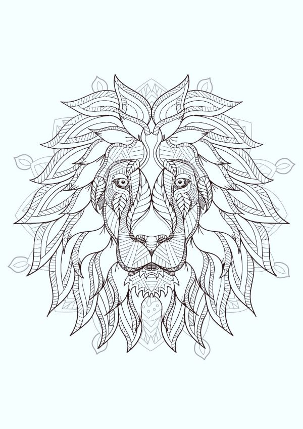 40 Printable Mandala Patterns For Many Uses Bored Art Lion Coloring Pages Mandala Coloring Pages Geometric Lion