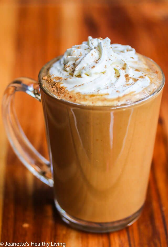 Skinny Pumpkin Spice Latte - enjoy this copycat of a Starbucks favorite for just 190 calories!