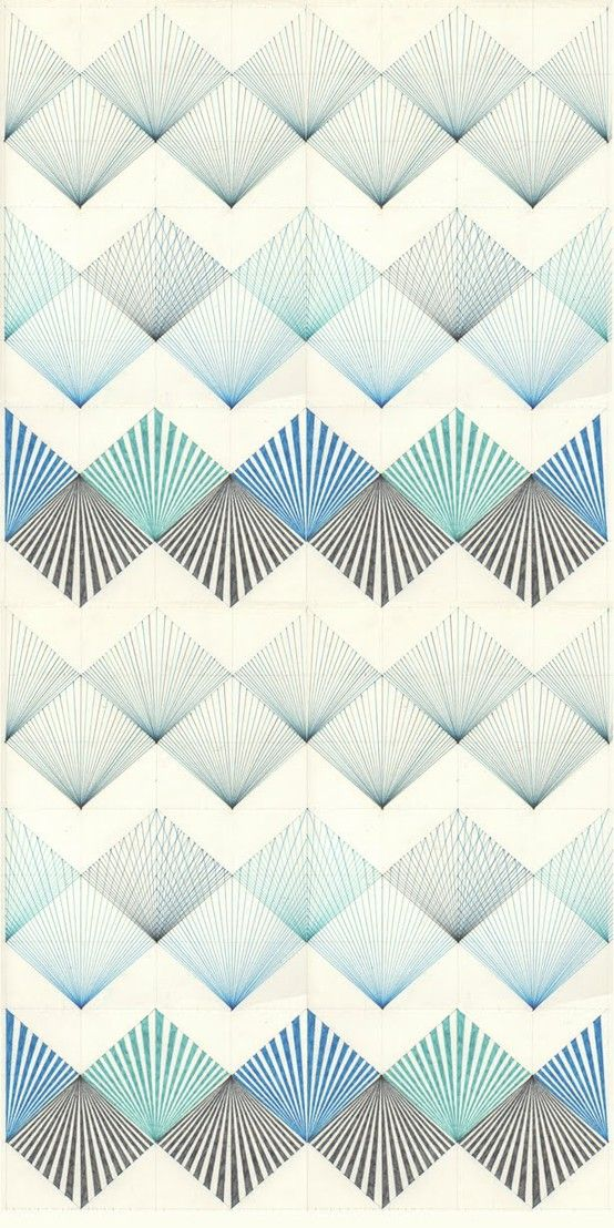 Pattern with stripes and rhombs by Ana of Labores Modernas