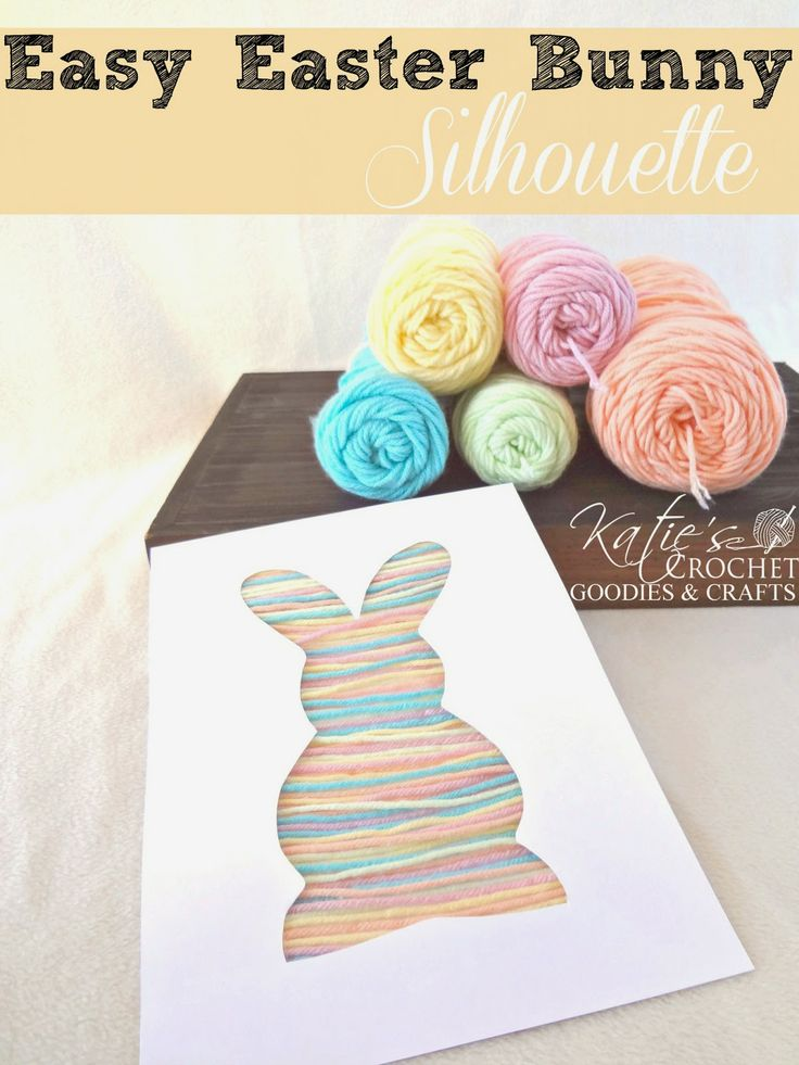 Easy Easter Craft for Toddlers: Bunny Silhouette Yarn Craft...could do lots of shapes with this!!!!