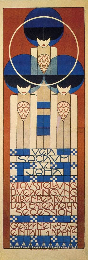Poster for the thirteenth Vienna Secession exhibition. By Koloman Moser in 1902.