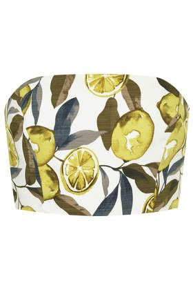 Lemon Print Bandeau Top - Tops - Clothing