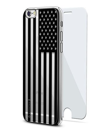 Another great find on #zulily! Clear & Black American Flag iPhone Case & Screen Protector #zulilyfinds