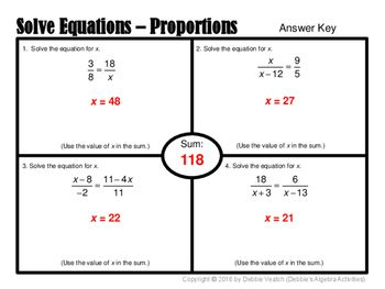 Solve Linear Equations With Variables on Both Sides & From
